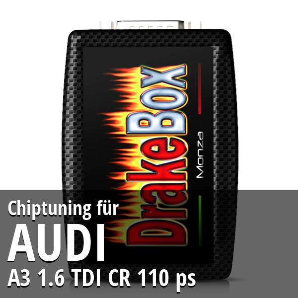Chiptuning Audi A3 1.6 TDI CR 110 ps