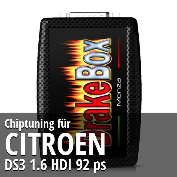 Chiptuning Citroen DS3 1.6 HDI 92 ps