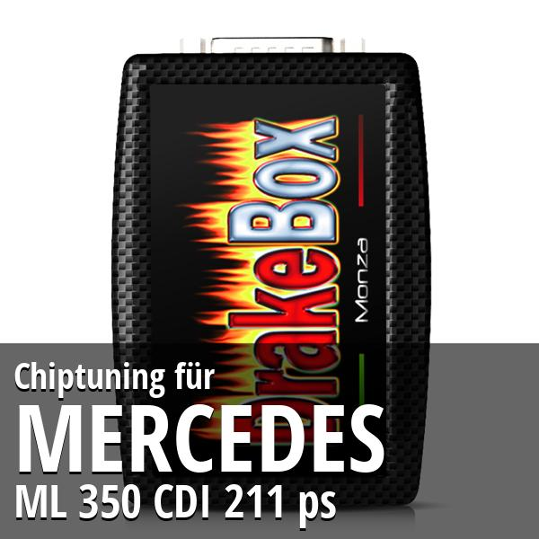 Chiptuning Mercedes ML 350 CDI 211 ps